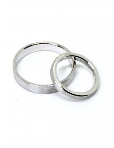 Alianzas de bodas en Oro blanco 1ª ley mate-brillo