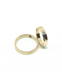 Alianzas bodas oro rosa 1ª ley diamantes brown