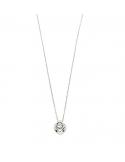 Collar colgante cubo diamante oro blanco 750