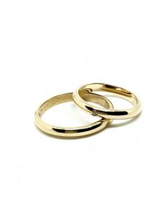 Aianzas de bodas artesanas oro amarillo 750
