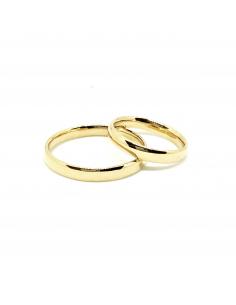 Alianzas artesanales almendradas oro amarillo 750